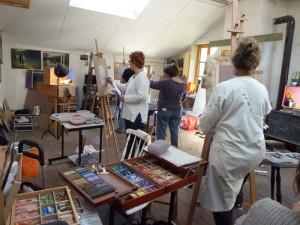 Stage de peinture avec modele chez Penelope Milner