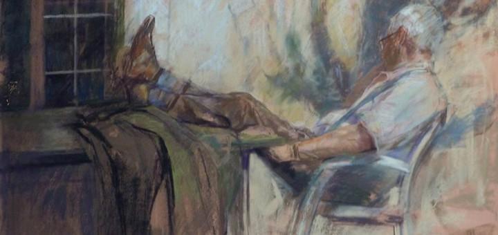 Suspended figure Pastel 98/68