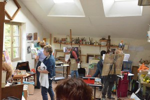 Travail dans l'atelier de Penelope Milner