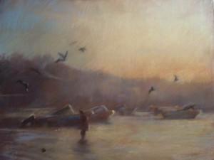 Brouillard sur la mer du nord