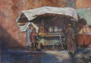 Petit déjeuner au Maroc. penelope Milner
