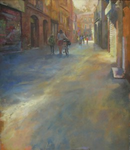 Summer street blues Huile 61x71