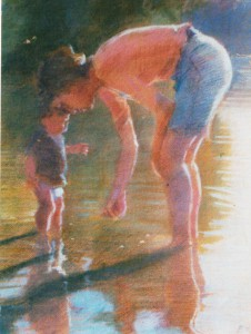 mother-and-child-at-the-lake