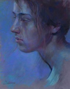 Anna in blue