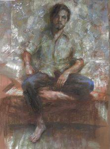 Man in relative comfort