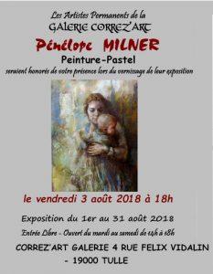 Exposition Penelope Milner avec Correz'art