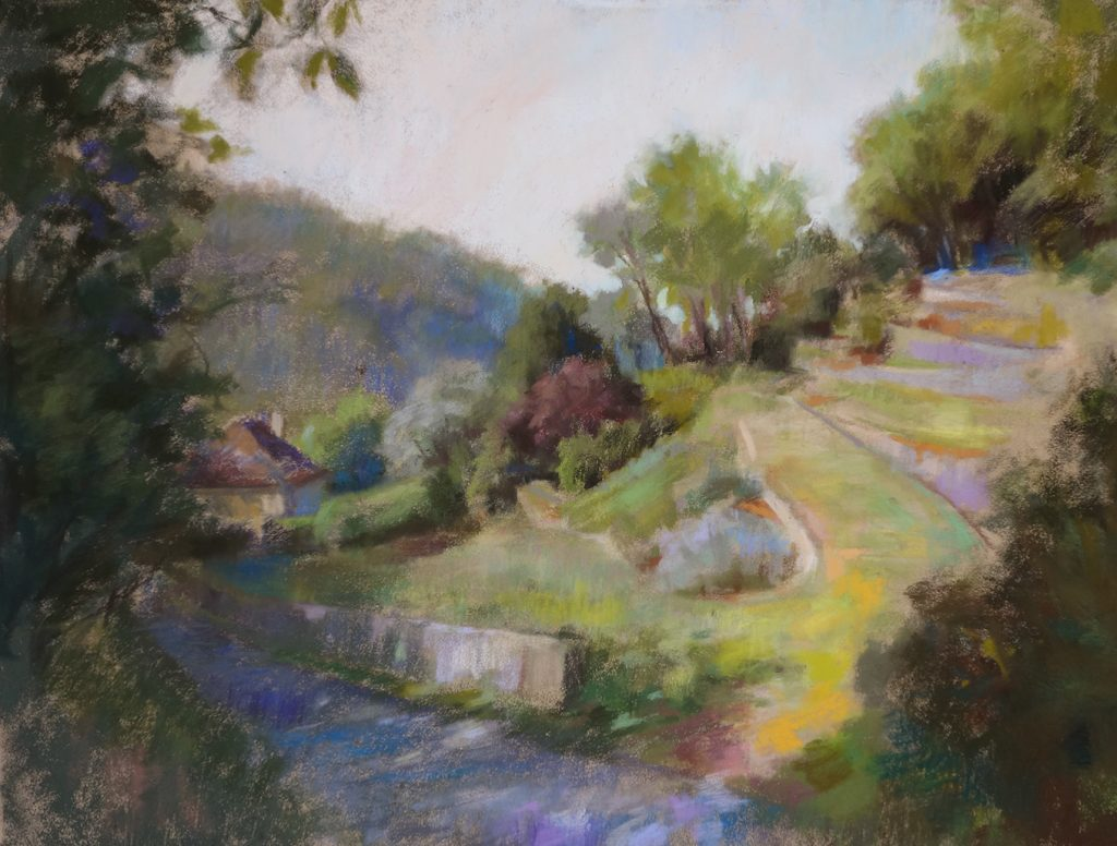 Pastelliste plein air. Stages Pastel.