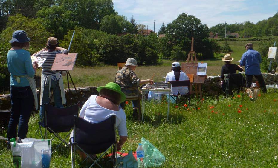 Pastel landscape workshop.