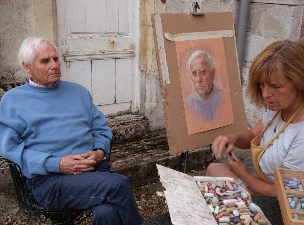 pastel portrait à Bonnemare